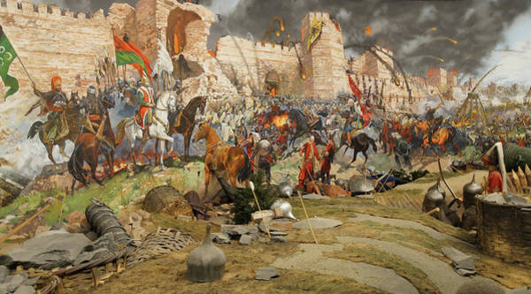 Photograph - Final Assault And The Fall Of Constantinople In 1453 by Steve Estvanik