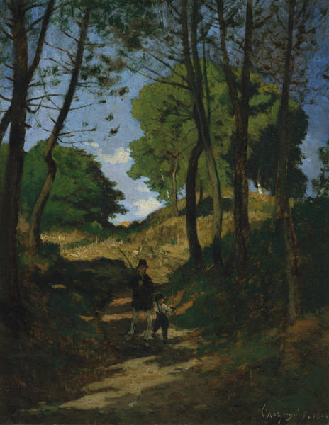 Painting - Fir Trees In Les Trembleaux, Near Marlotte by Henri Harpignies