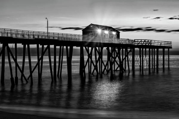 Photograph - First Light At The Jersey Shore Pier by Susan Candelario