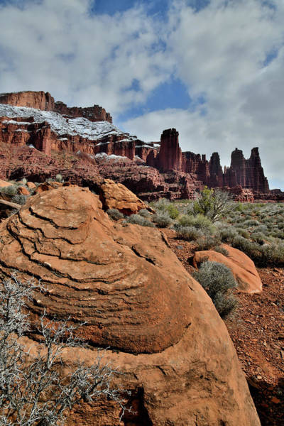 Photograph - Fisher Towers In Utah's Castle Valley by Ray Mathis