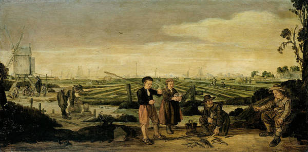 Painting - Fishermen And Farmers by Arent Arentsz