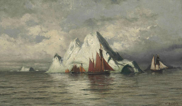 Painting - Fishing Boats And Icebergs by William Bradford