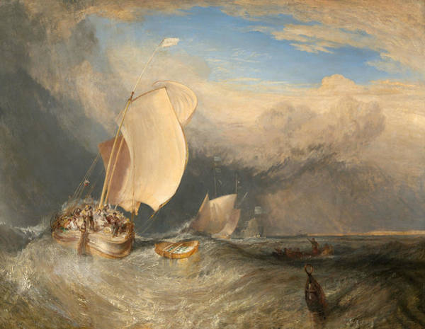 Wall Art - Painting - Fishing Boats With Hucksters Bargaining For Fish by Joseph Mallord William Turner