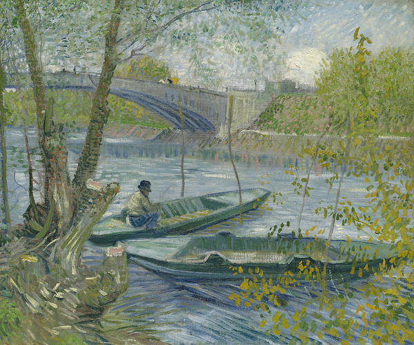Wall Art - Painting - Fishing In Spring, The Pont De Clichy  by Vincent van Gogh