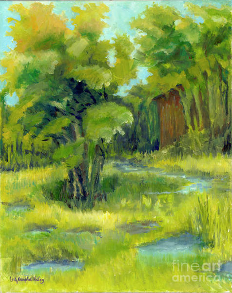Wall Art - Painting - Flooded Meadow by Lilly Ramphal