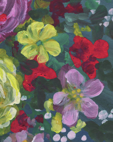 Painting - Floral Impressionistic Pattern  by Irina Sztukowski