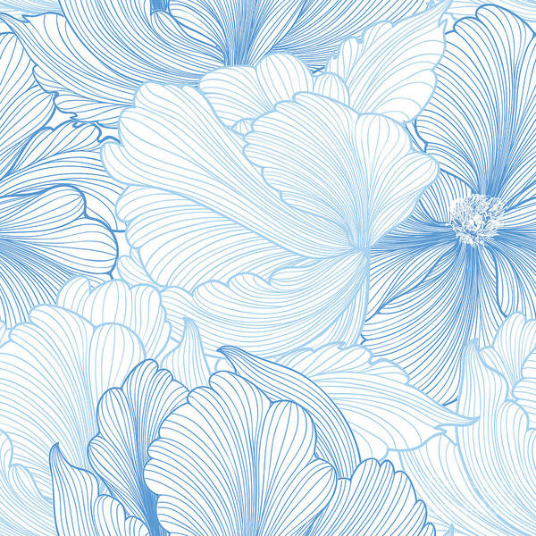 Wall Art - Digital Art - Floral Seamless Pattern. Flower by Yoko Design