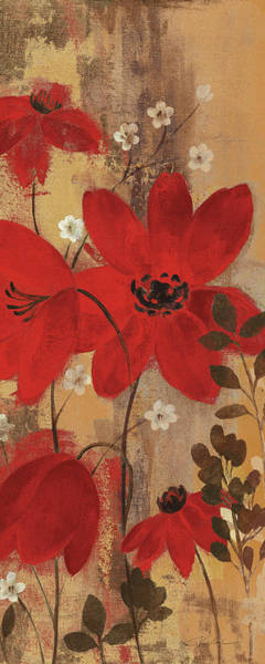 Wall Art - Painting - Floral Symphony Red II by Silvia Vassileva