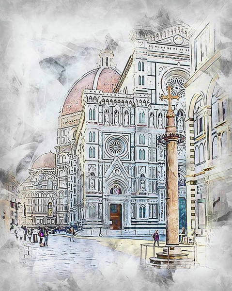 Painting - Florence - 34 by Andrea Mazzocchetti