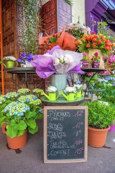 Wall Art - Photograph - Florist Shop, Cabourg, Normandy, France by Lisa S. Engelbrecht