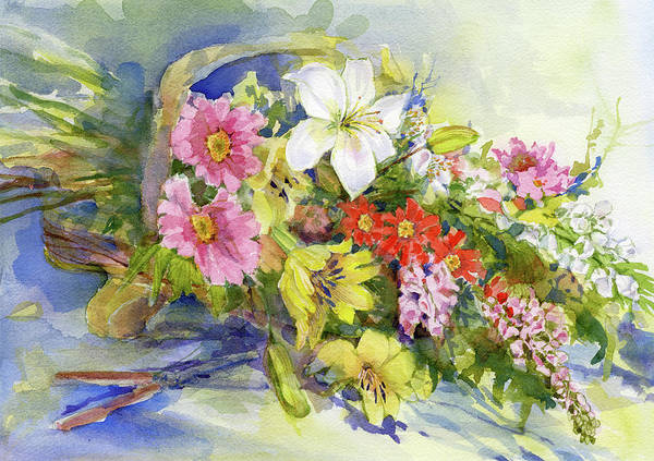 Painting - Flower Basket by Garden Gate magazine
