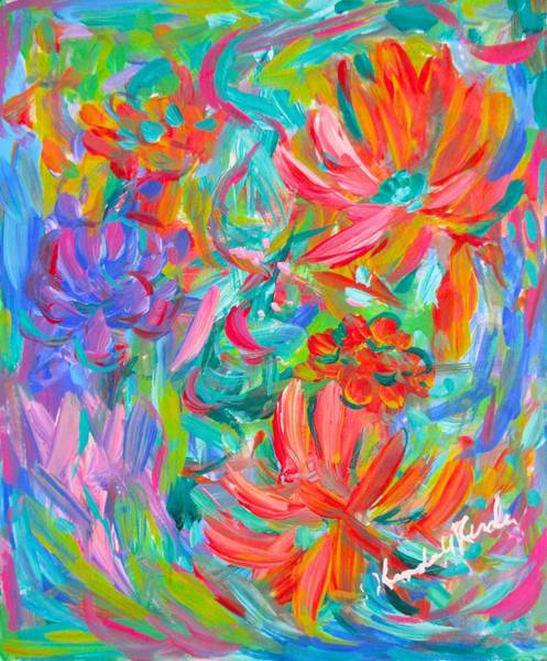 Painting - Flower Twirl by Kendall Kessler