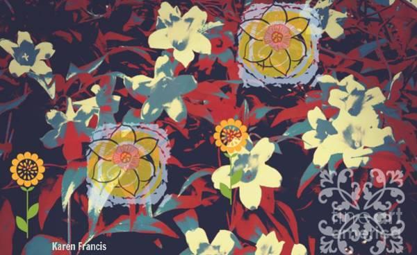 Wall Art - Digital Art - Flowers by Karen Francis