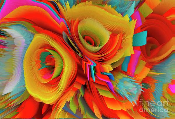 Wall Art - Mixed Media - Flowers Of My Dreams 16 by Elena Gantchikova