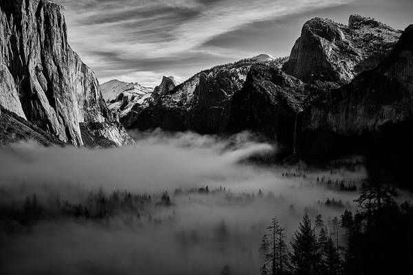 Wall Art - Photograph - Fog In Yosemite by Jon Glaser