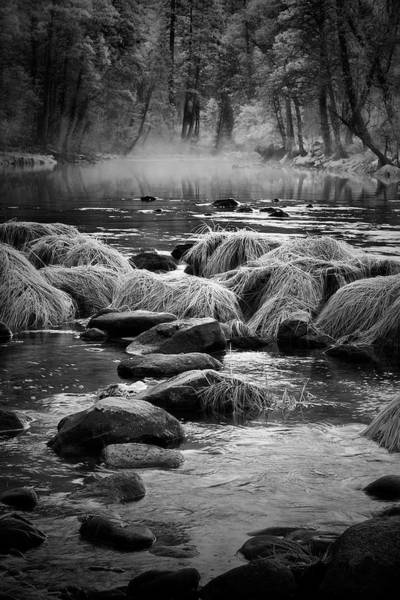 Wall Art - Photograph - Fog On Yosemite River by Jon Glaser