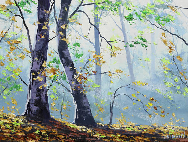 Wall Art - Painting - Forest Sunrays by Graham Gercken
