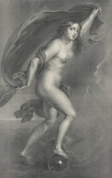 Wall Art - Painting - Goddess Of Fortune by Peter Paul Rubens