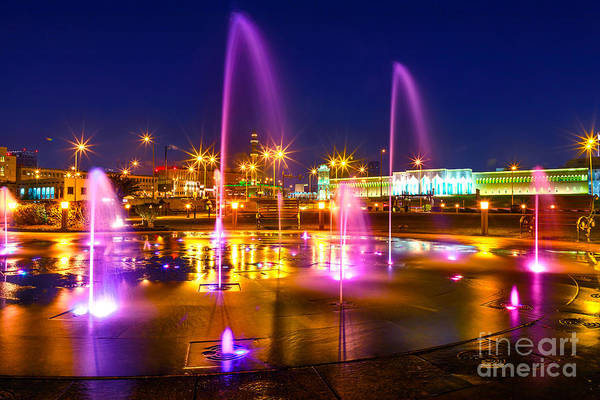 Photograph - Fountain At Souq Waqif Park by Benny Marty