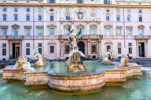 Wall Art - Photograph - Fountain Of Four Rivers, Sant'agnese by William Perry