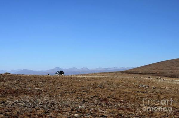 Photograph - Four Wheel Drive Jeep Parked At Deosai Plains Skardu Northern Pakistan by Imran Ahmed