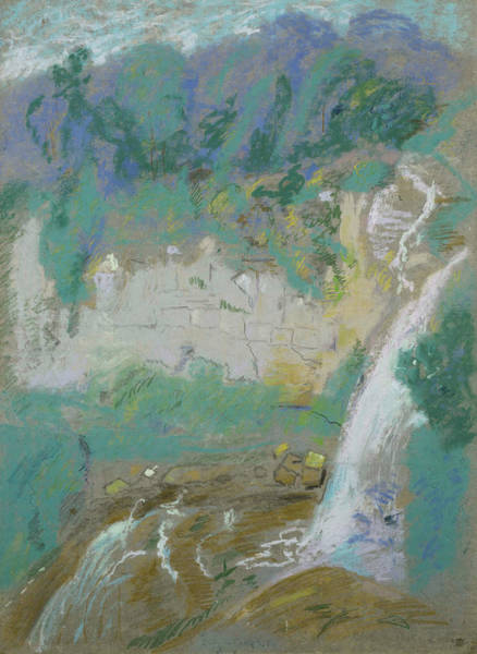 Pastel - Fragment Of Chittenga Falls by Dwight Williams