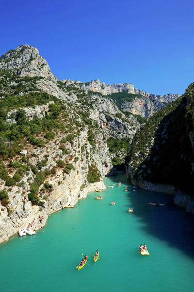 Pedal Boat Photograph - France, Alpes De Haute Provence Right by Moirenc Camille / Hemis.fr