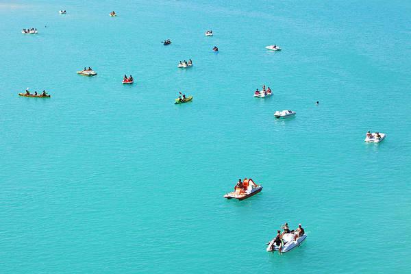 Pedal Boat Photograph - France, Alpes De Haute Provence, Var by Moirenc Camille / Hemis.fr