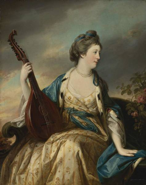 Wall Art - Painting - Francis Cotes - Portrait Of Alice Countess Of Shipbrook by Celestial Images