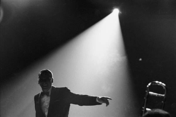 Recording Photograph - Frank Sinatra On Stage by John Dominis