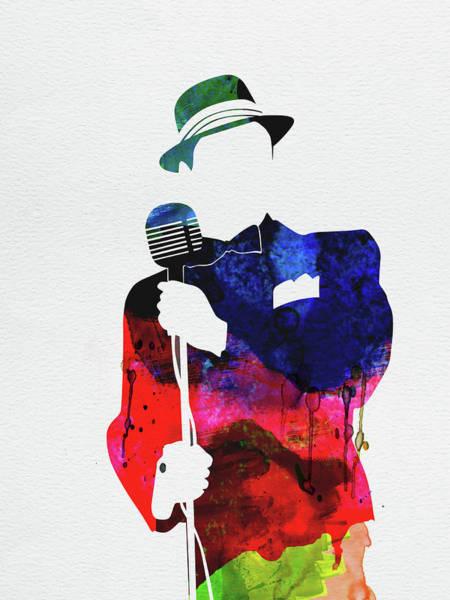 Jazz Mixed Media - Frank Watercolor by Naxart Studio