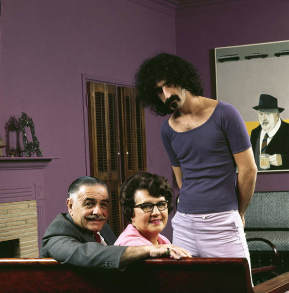 Smiling Photograph - Frank Zappa & His Parents by John Olson