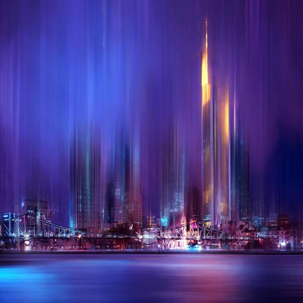 City Scape Digital Art - Frankfurt by Tim Palmer