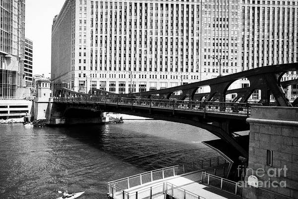 Wall Art - Photograph - Franklin Street Bascule Bridge Over The Chicago River Chicago Illinois United States Of America by Joe Fox