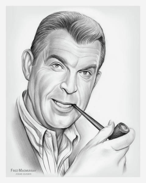Wall Art - Drawing - Fred Macmurray by Greg Joens