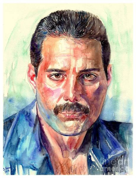 Wall Art - Painting - Freddie Mercury Painting by Suzann Sines