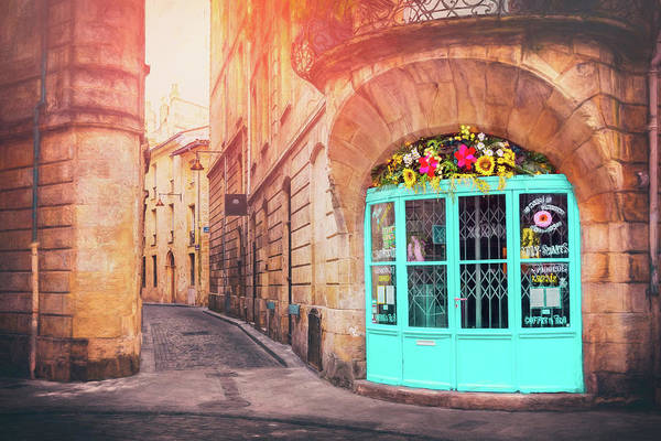 Bordeaux Wall Art - Photograph - French Cafe Bordeaux France  by Carol Japp