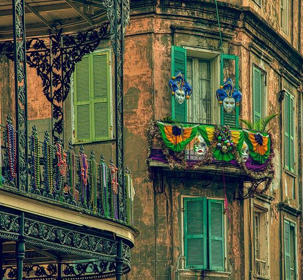 Wall Art - Photograph - French Quarter Mardi Gras Decorations  by Mountain Dreams