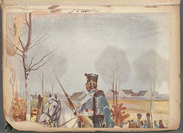 Wall Art - Painting - French Soldier In Uniform, France, 1800s - 1 by Celestial Images