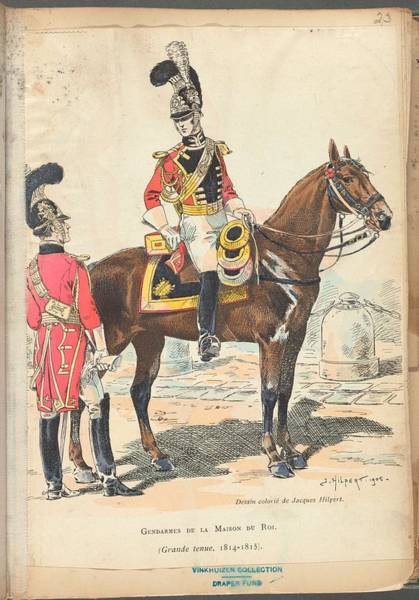 Wall Art - Painting - French Soldier In Uniform, France, 1800s - 20 by Celestial Images