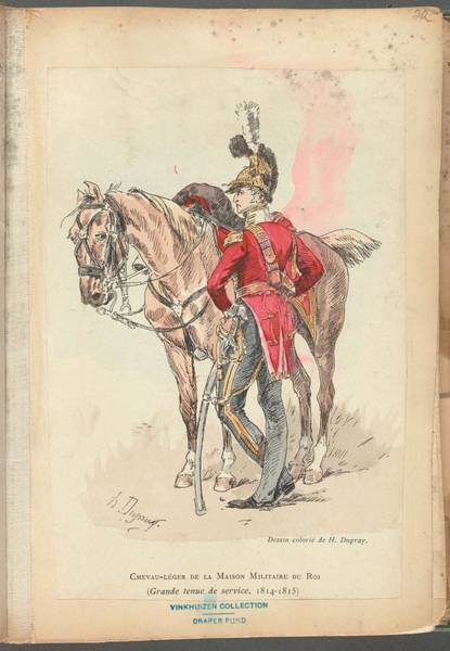 Wall Art - Painting - French Soldier In Uniform, France, 1800s - 21 by Celestial Images