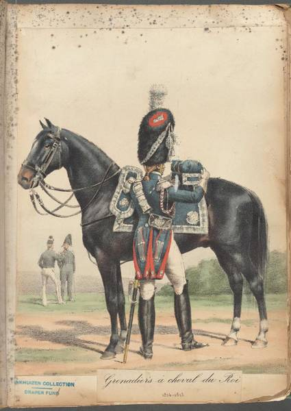 Wall Art - Painting - French Soldier In Uniform, France, 1800s - 22 by Celestial Images