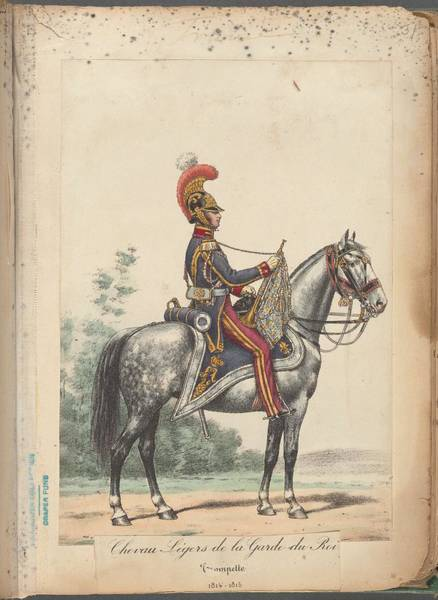 Wall Art - Painting - French Soldier In Uniform, France, 1800s - 23 by Celestial Images