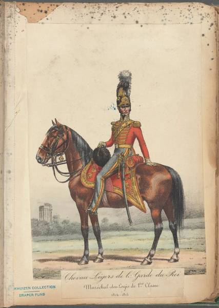 Wall Art - Painting - French Soldier In Uniform, France, 1800s - 24 by Celestial Images
