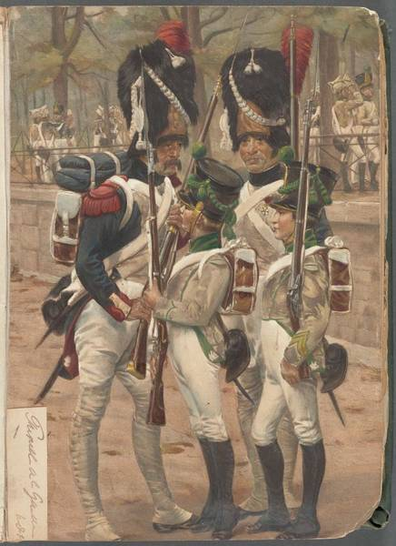 Wall Art - Painting - French Soldier In Uniform, France, 1800s - 3 by Celestial Images