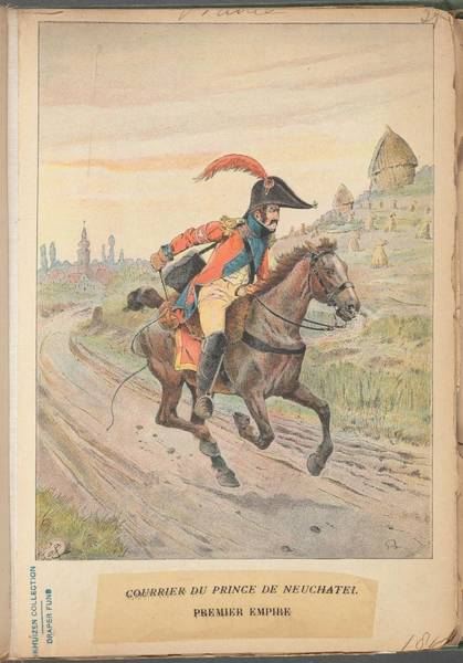 Wall Art - Painting - French Soldier In Uniform, France, 1800s - 5 by Celestial Images
