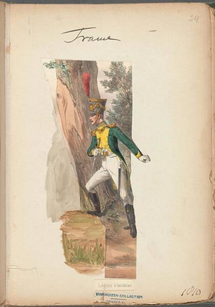 Wall Art - Painting - French Soldier In Uniform, France, 1800s - 7 by Celestial Images