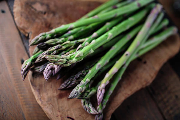 Green Vegetable Photograph - Fresh Green Asparagus by Nailia Schwarz