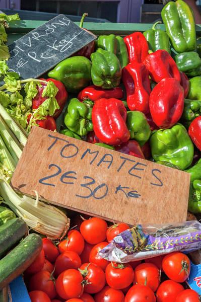 Wall Art - Photograph - Fresh Vegetable Market, Bayeux by Lisa S. Engelbrecht