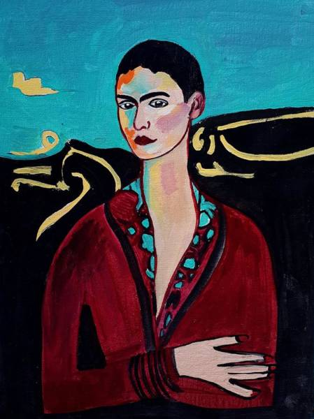 Painting - Frida Kahlo. by Nikki Dalton